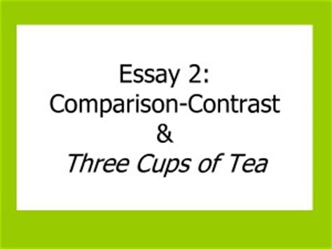 Compare and contrast essay on movies
